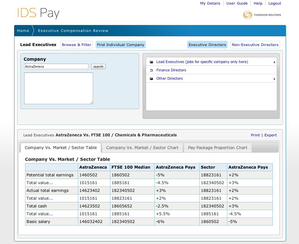 ids pay dashboard screenshot, production