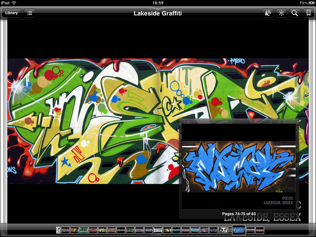 graffiti I O S ebook screenshot